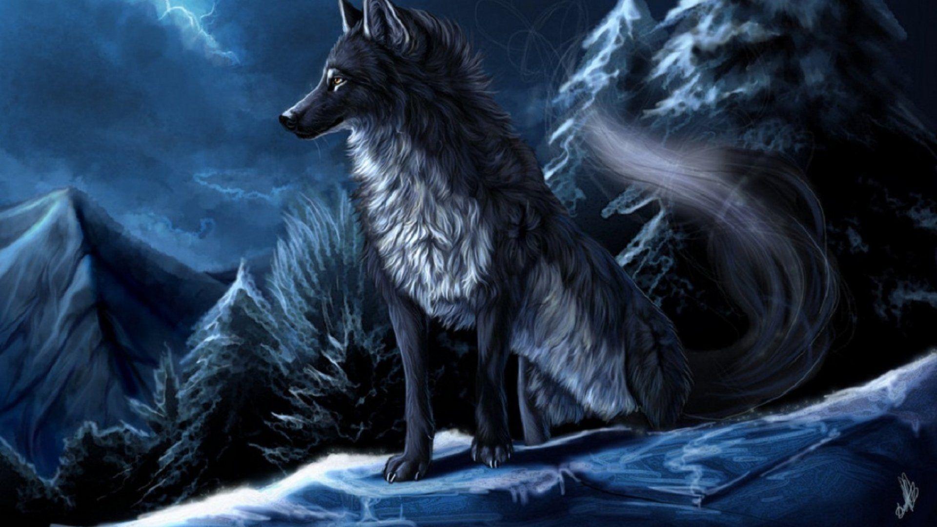 таинственная фото волка сувенирная продукция отличается