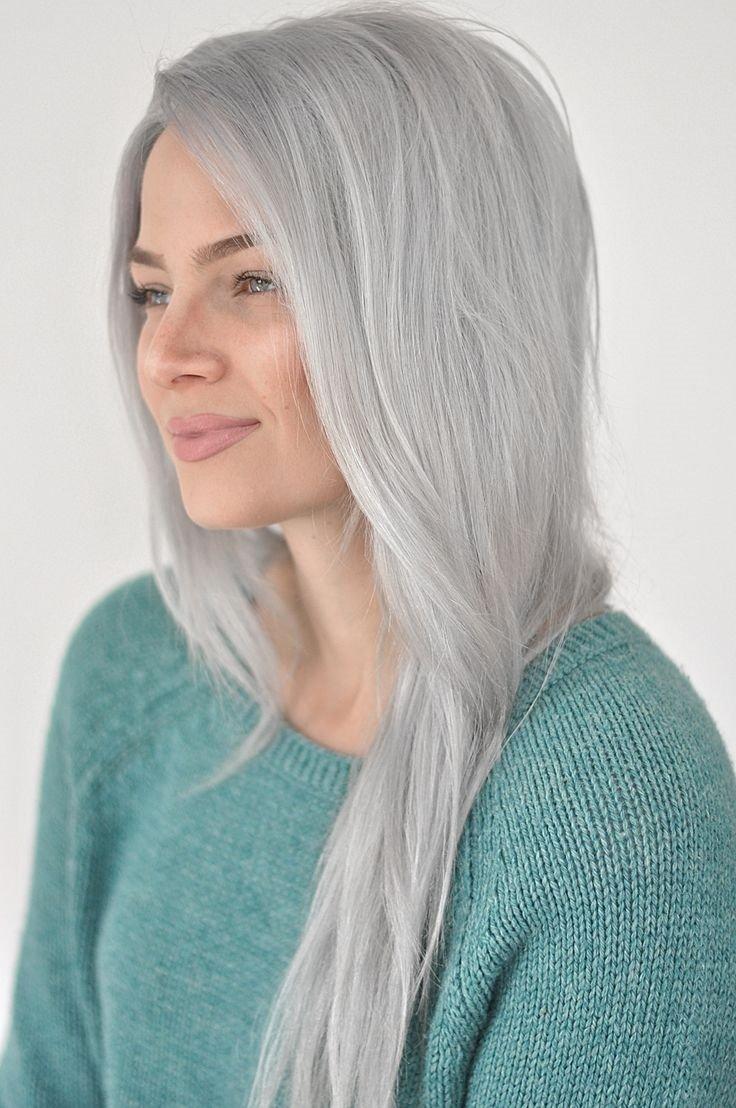 Пепельно седой цвет волос фото