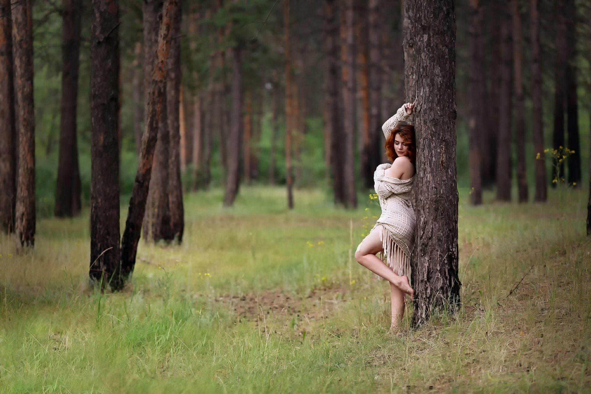Какие позы для фотосессии весной в лесу